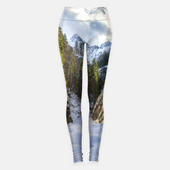 Miniature de image de Winter and spring valley and mountains Leggings, Live Heroes