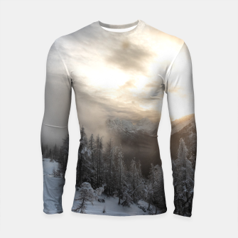Thumbnail image of Sun shining at stunning winter scenery Longsleeve rashguard , Live Heroes