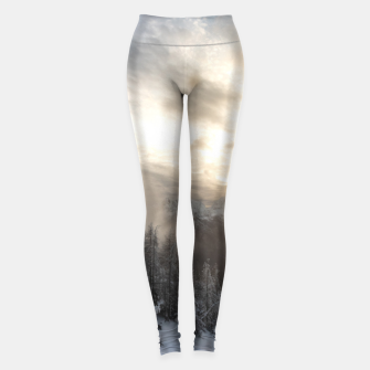 Miniature de image de Sun shining at stunning winter scenery Leggings, Live Heroes