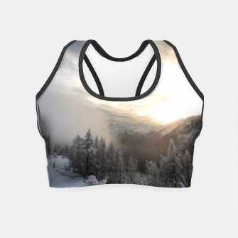 Thumbnail image of Sun shining at stunning winter scenery Crop Top, Live Heroes