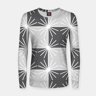 Thumbnail image of Abstract geometric pattern - gray and white. Women sweater, Live Heroes