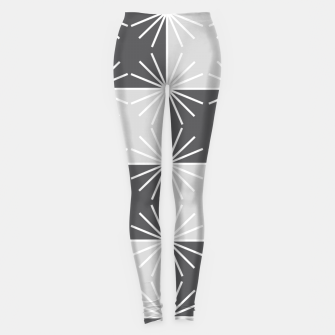 Thumbnail image of Abstract geometric pattern - gray and white. Leggings, Live Heroes