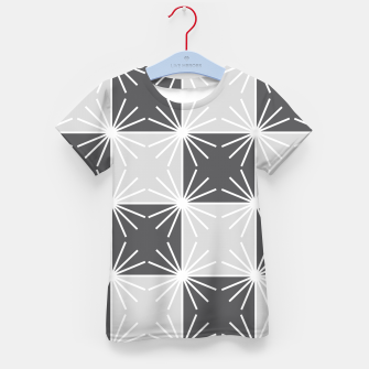 Imagen en miniatura de Abstract geometric pattern - gray and white. Kid's t-shirt, Live Heroes