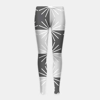 Thumbnail image of Abstract geometric pattern - gray and white. Girl's leggings, Live Heroes