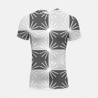 Thumbnail image of Abstract geometric pattern - gray and white. Shortsleeve rashguard, Live Heroes