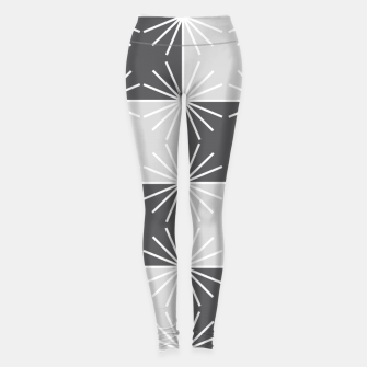Miniature de image de Abstract geometric pattern - gray and white. Leggings, Live Heroes