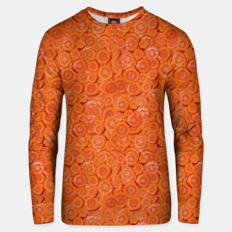 Thumbnail image of Carrot Pieces Motif Print Pattern Unisex sweater, Live Heroes