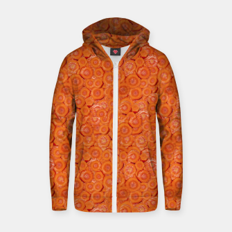 Miniaturka Carrot Pieces Motif Print Pattern Zip up hoodie, Live Heroes
