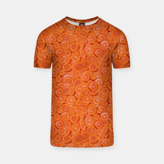 Thumbnail image of Carrot Pieces Motif Print Pattern T-shirt, Live Heroes