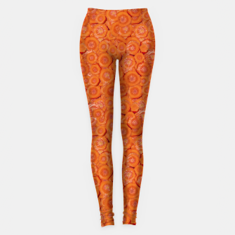 Thumbnail image of Carrot Pieces Motif Print Pattern Leggings, Live Heroes