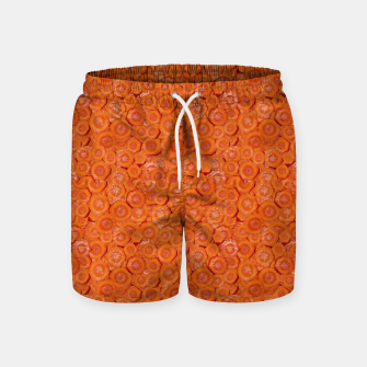 Thumbnail image of Carrot Pieces Motif Print Pattern Swim Shorts, Live Heroes
