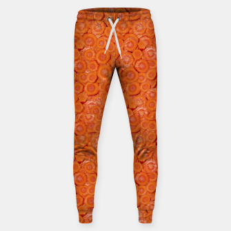 Thumbnail image of Carrot Pieces Motif Print Pattern Sweatpants, Live Heroes