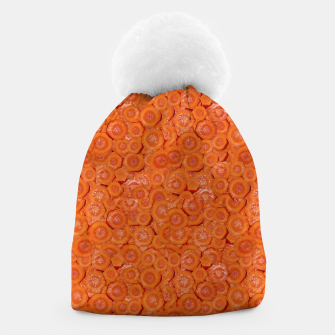 Thumbnail image of Carrot Pieces Motif Print Pattern Beanie, Live Heroes