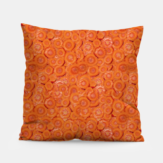 Thumbnail image of Carrot Pieces Motif Print Pattern Pillow, Live Heroes