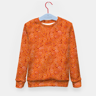 Thumbnail image of Carrot Pieces Motif Print Pattern Kid's sweater, Live Heroes