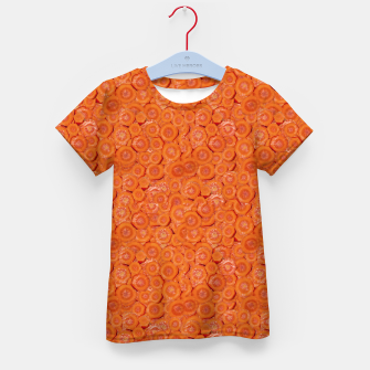 Thumbnail image of Carrot Pieces Motif Print Pattern Kid's t-shirt, Live Heroes