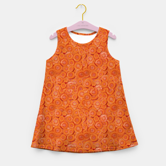 Miniaturka Carrot Pieces Motif Print Pattern Girl's summer dress, Live Heroes