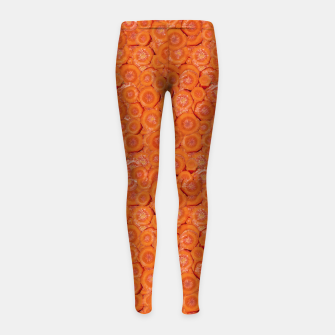 Miniaturka Carrot Pieces Motif Print Pattern Girl's leggings, Live Heroes