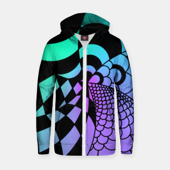 Thumbnail image of Colorful Zentangle Zip up hoodie, Live Heroes