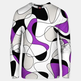 Thumbnail image of Abstract pattern - purple, gray, black and white. Unisex sweater, Live Heroes