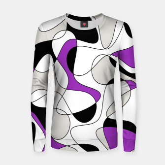 Thumbnail image of Abstract pattern - purple, gray, black and white. Women sweater, Live Heroes