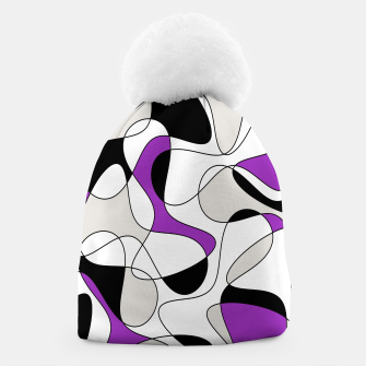 Thumbnail image of Abstract pattern - purple, gray, black and white. Beanie, Live Heroes