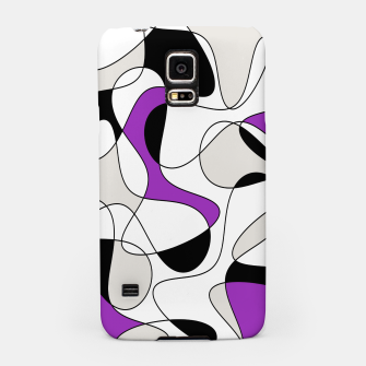 Thumbnail image of Abstract pattern - purple, gray, black and white. Samsung Case, Live Heroes