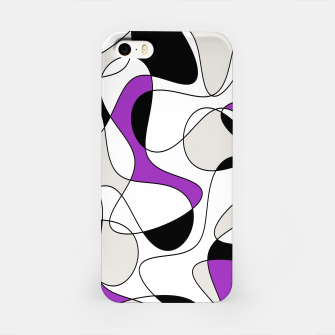 Thumbnail image of Abstract pattern - purple, gray, black and white. iPhone Case, Live Heroes