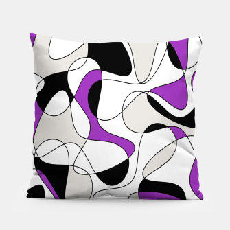 Thumbnail image of Abstract pattern - purple, gray, black and white. Pillow, Live Heroes