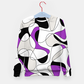 Thumbnail image of Abstract pattern - purple, gray, black and white. Kid's sweater, Live Heroes