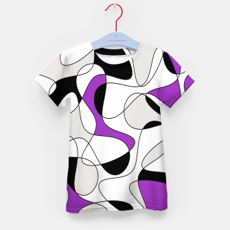 Imagen en miniatura de Abstract pattern - purple, gray, black and white. Kid's t-shirt, Live Heroes