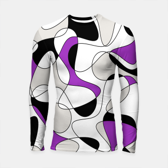 Thumbnail image of Abstract pattern - purple, gray, black and white. Longsleeve rashguard , Live Heroes