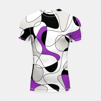 Thumbnail image of Abstract pattern - purple, gray, black and white. Shortsleeve rashguard, Live Heroes