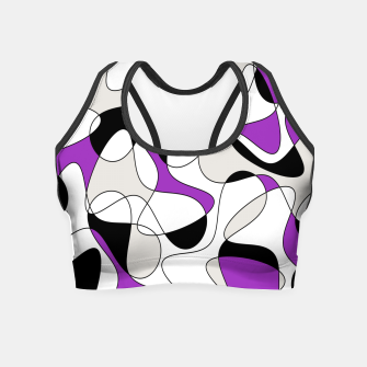 Thumbnail image of Abstract pattern - purple, gray, black and white. Crop Top, Live Heroes