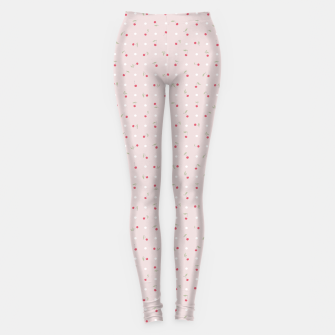 Miniature de image de Sweet cherries and polka dots in pink Leggings, Live Heroes