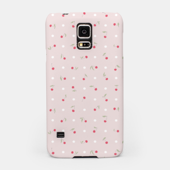 Miniature de image de Sweet cherries and polka dots in pink Samsung Case, Live Heroes