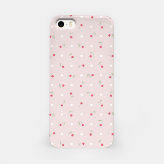 Miniature de image de Sweet cherries and polka dots in pink iPhone Case, Live Heroes