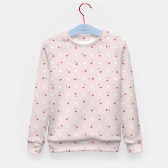 Miniature de image de Sweet cherries and polka dots in pink Kid's sweater, Live Heroes
