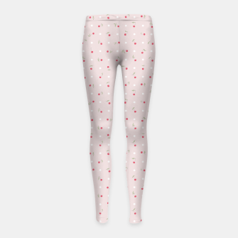 Thumbnail image of Sweet cherries and polka dots in pink Girl's leggings, Live Heroes
