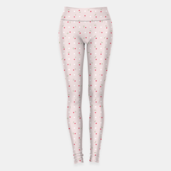 Thumbnail image of Sweet cherries and polka dots in pink Leggings, Live Heroes