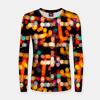Thumbnail image of Multicolored Bubbles Pattern Women sweater, Live Heroes