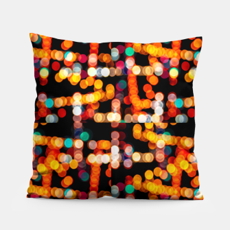 Thumbnail image of Multicolored Bubbles Pattern Pillow, Live Heroes