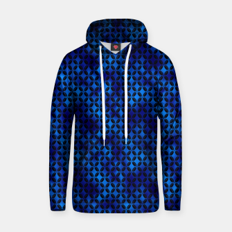 Thumbnail image of 4 Leaf Quatrefoils in Black and Classic Blue Vintage Faux Foil Art Deco Vintage Foil Pattern Hoodie, Live Heroes