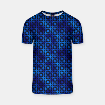 Thumbnail image of 4 Leaf Quatrefoils in Black and Classic Blue Vintage Faux Foil Art Deco Vintage Foil Pattern T-shirt, Live Heroes