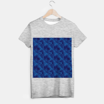 Thumbnail image of 4 Leaf Quatrefoils in Black and Classic Blue Vintage Faux Foil Art Deco Vintage Foil Pattern T-shirt regular, Live Heroes