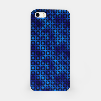 Miniaturka 4 Leaf Quatrefoils in Black and Classic Blue Vintage Faux Foil Art Deco Vintage Foil Pattern iPhone Case, Live Heroes