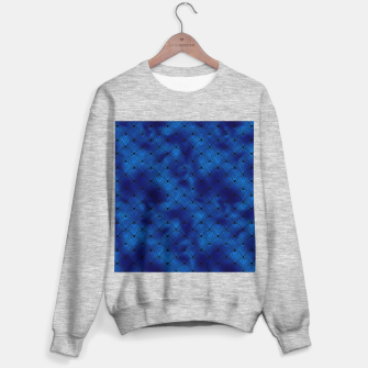 Thumbnail image of Ringed Scales in Black and Classic Blue Vintage Faux Foil Art Deco Vintage Foil Pattern Sweater regular, Live Heroes