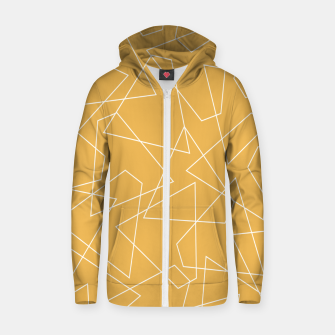Thumbnail image of Abstract geometric pattern - bronze. Zip up hoodie, Live Heroes