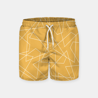 Thumbnail image of Abstract geometric pattern - bronze. Swim Shorts, Live Heroes