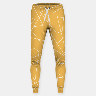 Thumbnail image of Abstract geometric pattern - bronze. Sweatpants, Live Heroes